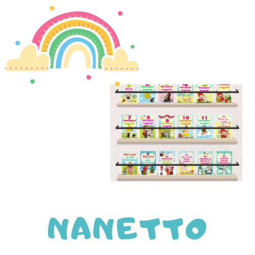 Nanetto- mérföldkő kártyák